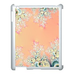 Peach Spring Frost On Flowers Fractal Apple Ipad 3/4 Case (white)