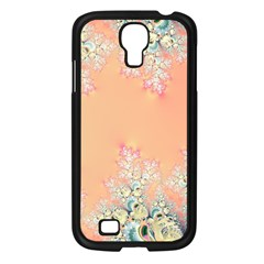 Peach Spring Frost On Flowers Fractal Samsung Galaxy S4 I9500/ I9505 Case (Black)
