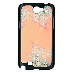 Peach Spring Frost On Flowers Fractal Samsung Galaxy Note 2 Case (Black)
