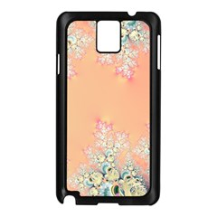 Peach Spring Frost On Flowers Fractal Samsung Galaxy Note 3 N9005 Case (Black)