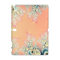 Peach Spring Frost On Flowers Fractal Samsung Galaxy Note 10.1 (P600) Hardshell Case