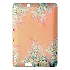 Peach Spring Frost On Flowers Fractal Kindle Fire HDX 7  Hardshell Case
