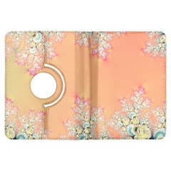 Peach Spring Frost On Flowers Fractal Kindle Fire HDX 7  Flip 360 Case