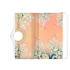 Peach Spring Frost On Flowers Fractal Kindle Fire HDX 8.9  Flip 360 Case