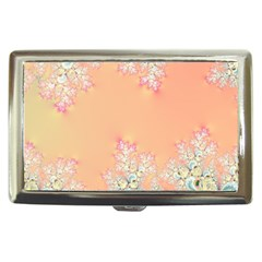 Peach Spring Frost On Flowers Fractal Cigarette Money Case