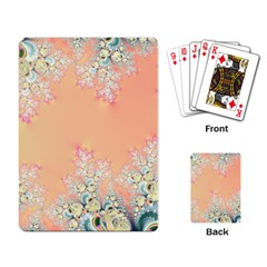 Peach Spring Frost On Flowers Fractal Playing Cards Single Design