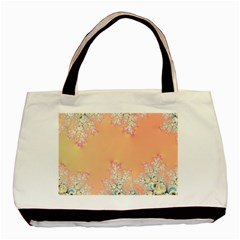 Peach Spring Frost On Flowers Fractal Classic Tote Bag