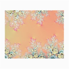 Peach Spring Frost On Flowers Fractal Glasses Cloth (Small, Two Sided)