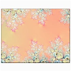 Peach Spring Frost On Flowers Fractal Canvas 11  x 14  (Unframed)