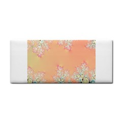 Peach Spring Frost On Flowers Fractal Hand Towel