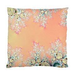 Peach Spring Frost On Flowers Fractal Cushion Case (two Sided)