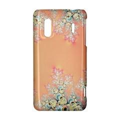 Peach Spring Frost On Flowers Fractal HTC Evo Design 4G/ Hero S Hardshell Case