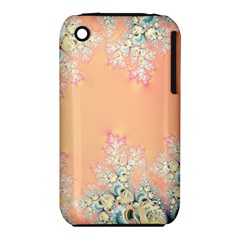 Peach Spring Frost On Flowers Fractal Apple iPhone 3G/3GS Hardshell Case (PC+Silicone)