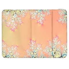 Peach Spring Frost On Flowers Fractal Samsung Galaxy Tab 7  P1000 Flip Case