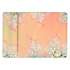 Peach Spring Frost On Flowers Fractal Samsung Galaxy Tab 10.1  P7500 Flip Case