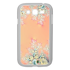 Peach Spring Frost On Flowers Fractal Samsung Galaxy Grand Duos I9082 Case (white)