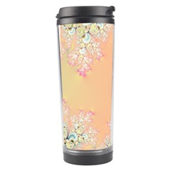 Peach Spring Frost On Flowers Fractal Travel Tumbler