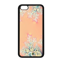 Peach Spring Frost On Flowers Fractal Apple iPhone 5C Seamless Case (Black)