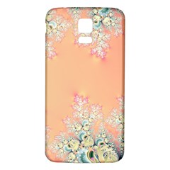 Peach Spring Frost On Flowers Fractal Samsung Galaxy S5 Back Case (White)