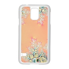 Peach Spring Frost On Flowers Fractal Samsung Galaxy S5 Case (White)