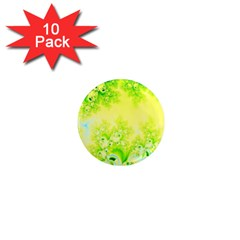 Sunny Spring Frost Fractal 1  Mini Button Magnet (10 Pack)