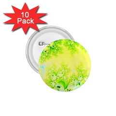 Sunny Spring Frost Fractal 1.75  Button (10 pack)