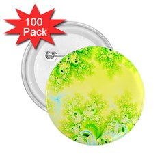 Sunny Spring Frost Fractal 2 25  Button (100 Pack)