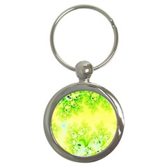 Sunny Spring Frost Fractal Key Chain (round)