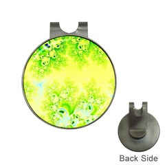 Sunny Spring Frost Fractal Hat Clip with Golf Ball Marker