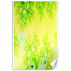 Sunny Spring Frost Fractal Canvas 24  X 36  (unframed)