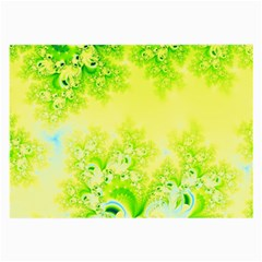 Sunny Spring Frost Fractal Glasses Cloth (Large, Two Sided)