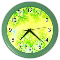 Sunny Spring Frost Fractal Wall Clock (Color)