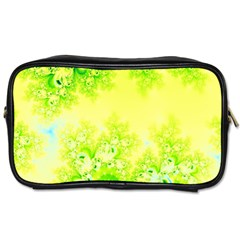 Sunny Spring Frost Fractal Travel Toiletry Bag (two Sides)