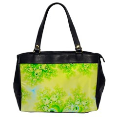 Sunny Spring Frost Fractal Oversize Office Handbag (one Side)