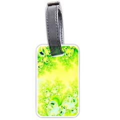Sunny Spring Frost Fractal Luggage Tag (two Sides)