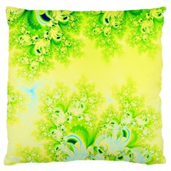 Sunny Spring Frost Fractal Large Cushion Case (two Sided)