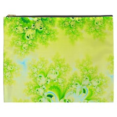 Sunny Spring Frost Fractal Cosmetic Bag (XXXL)