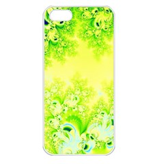 Sunny Spring Frost Fractal Apple Iphone 5 Seamless Case (white)