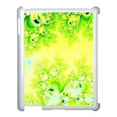 Sunny Spring Frost Fractal Apple Ipad 3/4 Case (white)