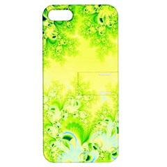 Sunny Spring Frost Fractal Apple Iphone 5 Hardshell Case With Stand