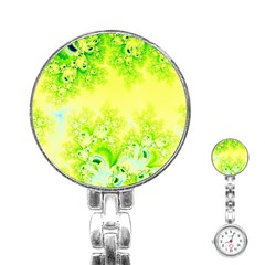 Sunny Spring Frost Fractal Stainless Steel Nurses Watch