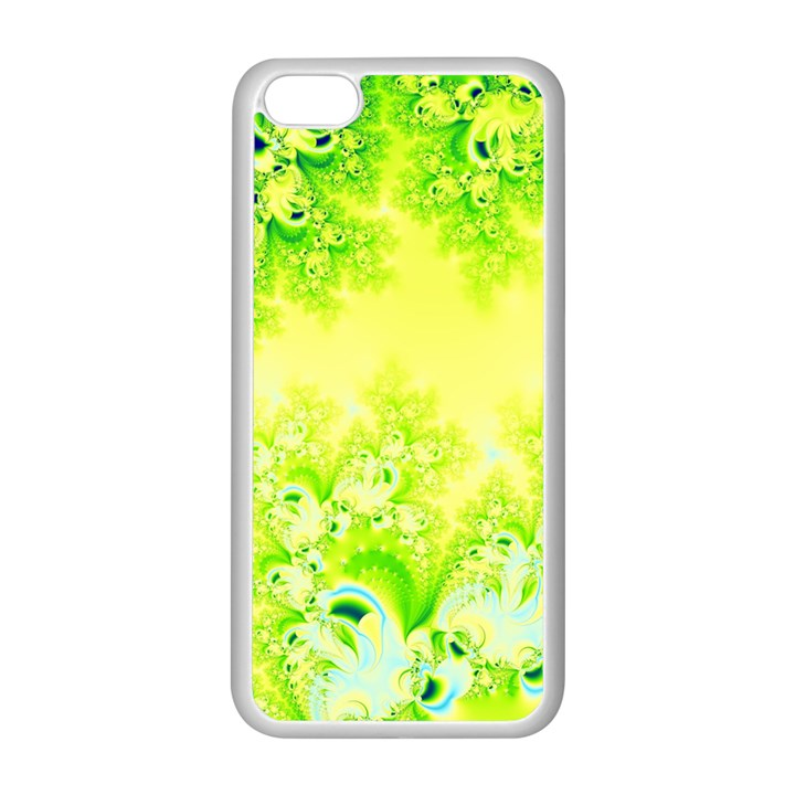 Sunny Spring Frost Fractal Apple iPhone 5C Seamless Case (White)