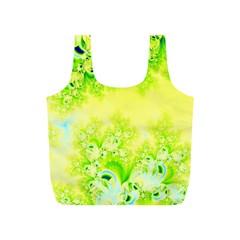 Sunny Spring Frost Fractal Reusable Bag (S)