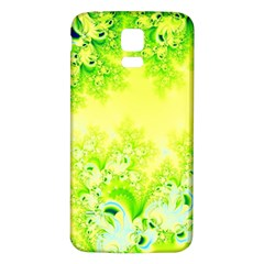 Sunny Spring Frost Fractal Samsung Galaxy S5 Back Case (White)