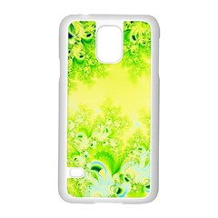 Sunny Spring Frost Fractal Samsung Galaxy S5 Case (white)