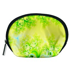 Sunny Spring Frost Fractal Accessory Pouch (Medium)
