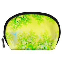 Sunny Spring Frost Fractal Accessory Pouch (large)