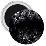 Midnight Frost Fractal 3  Button Magnet Front