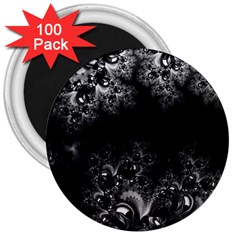 Midnight Frost Fractal 3  Button Magnet (100 Pack)