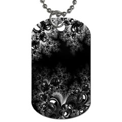Midnight Frost Fractal Dog Tag (one Sided)